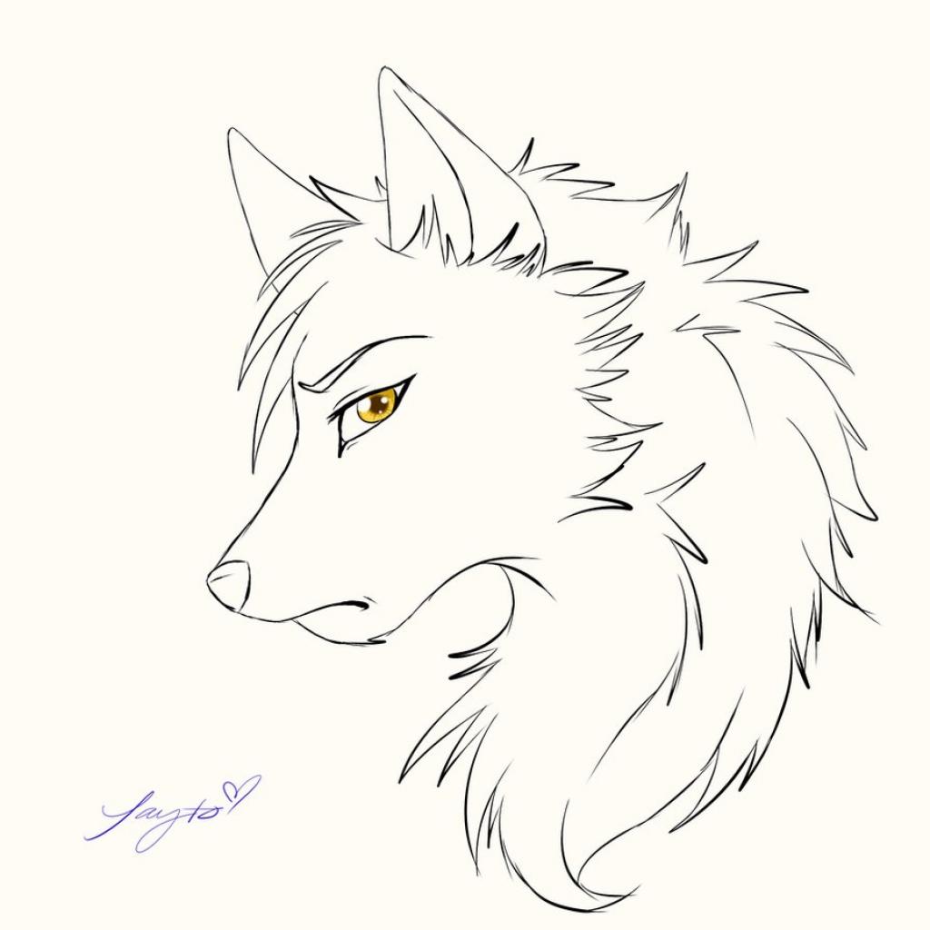 1024x1024 Sad Anime Dog Drawing