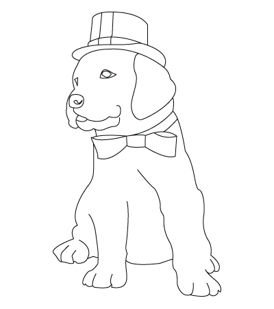 400x450 Christmas dog drawing « Childrens drawings