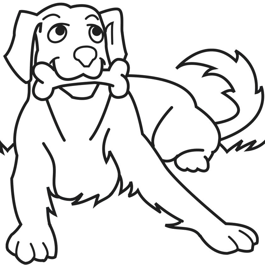 842x842 Color Drawing Book Dog Coloring Pages For Kids Preschool Crafts