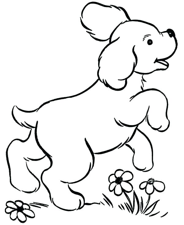 600x734 Doggy Coloring Pages Dog Coloring Pages For Kids Printable