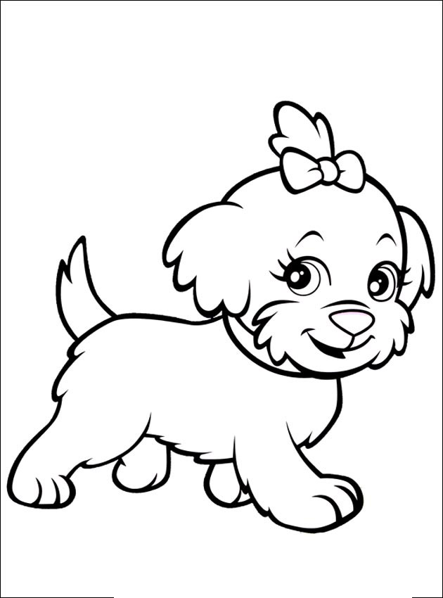 630x850 Little Dog Girl Animal Coloring Pages For Kids To Print Amp Color