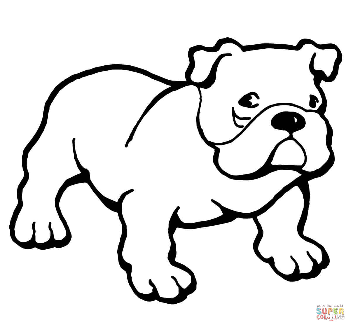 1200x1120 Bulldog Coloring Page Free Printable Coloring Pages