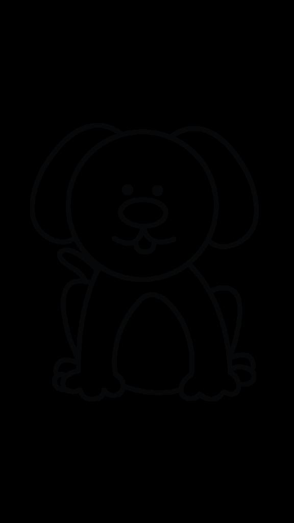 576x1024 Dog Drawing