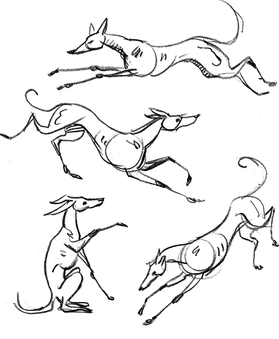 577x700 How To Draw Dogs, Cats And Horses