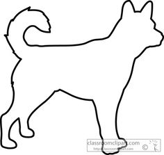 Dog Drawing Outline