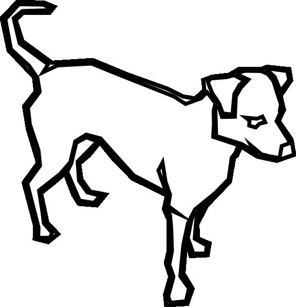 576x597 Dog Outline Clip Art