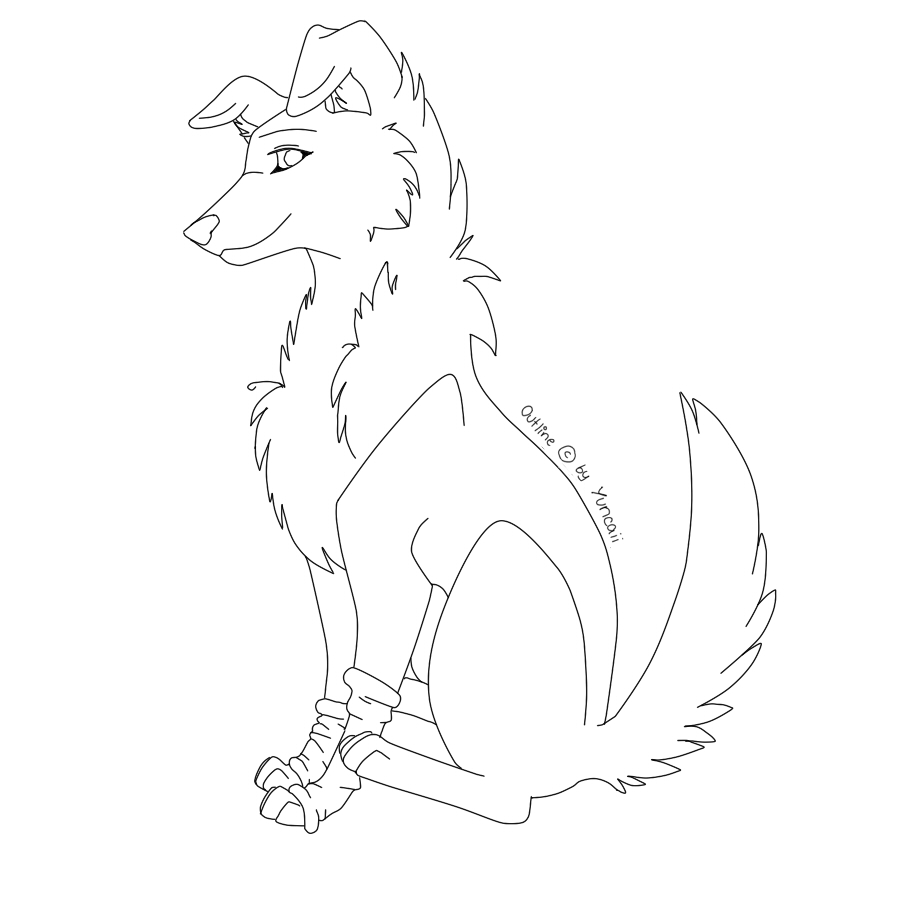 900x900 Free Dog Outlines By Yuncaii