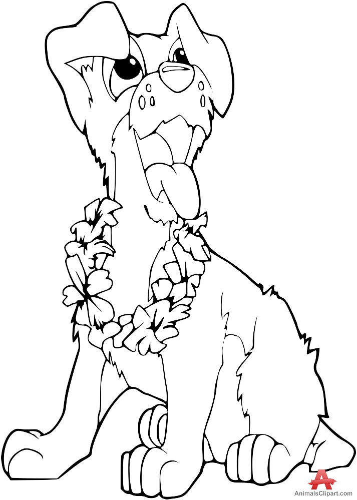 713x999 Outline Dog Drawing Free Clipart Design Download