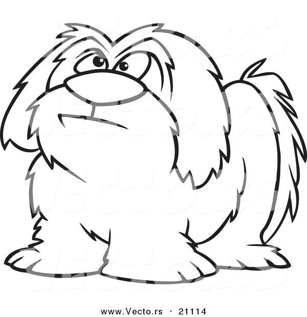 600x620 Cartoon Dog Coloring Pages Vector Of A Cartoon Shaggy Dog Coloring