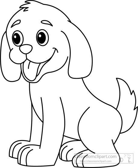 458x559 Puppy Clipart Black And White Felt Board Felting
