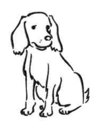 345x404 Simple Dog Outline For A Tattoo Tattoos Foot, Hand