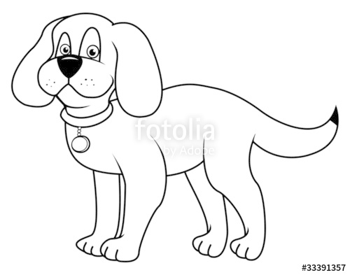 500x393 Dog Outline Stock Image And Royalty Free Vector Files On Fotolia