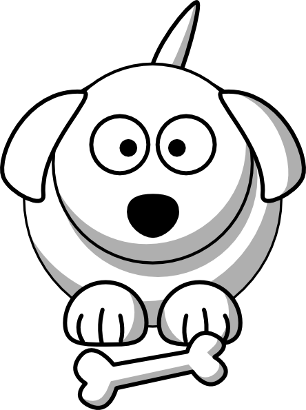 444x595 Cartoon Dog Outline Clip Art