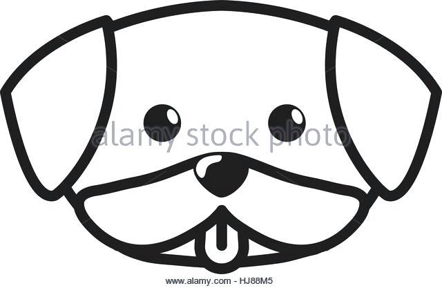 640x417 Dog Face Outline Cartoon Dog Face Outline Dog Face Outline Vector