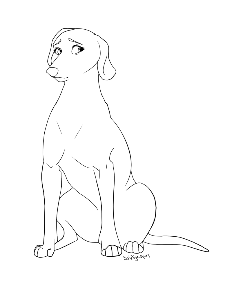 dog drawing template at getdrawings com free for personal use dog