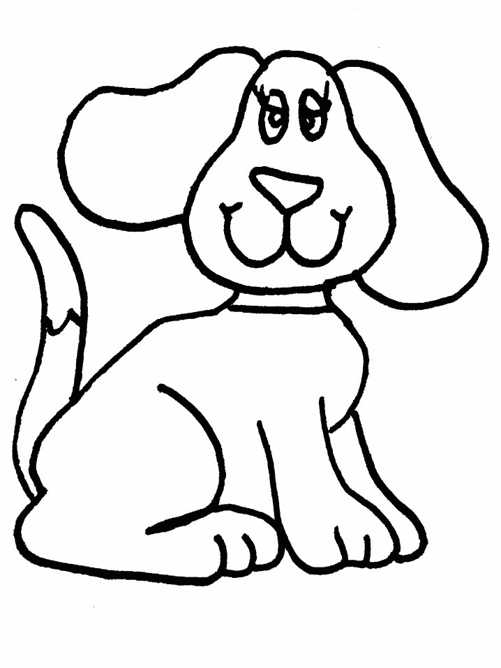 718x957 Dog Face Coloring Page 492796