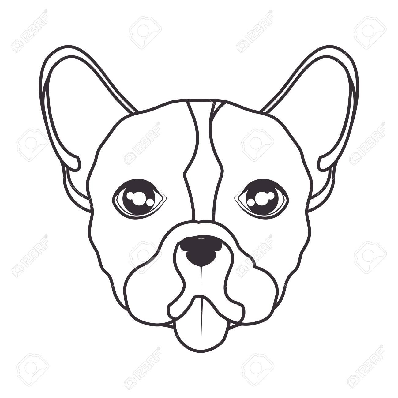 1300x1300 Hand Draw Face Dog Icon Vector Illustration Eps 10 Royalty Free