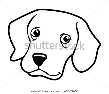 450x388 Awesome Cartoon Face Outline Best Photos Of Dog Face Outline