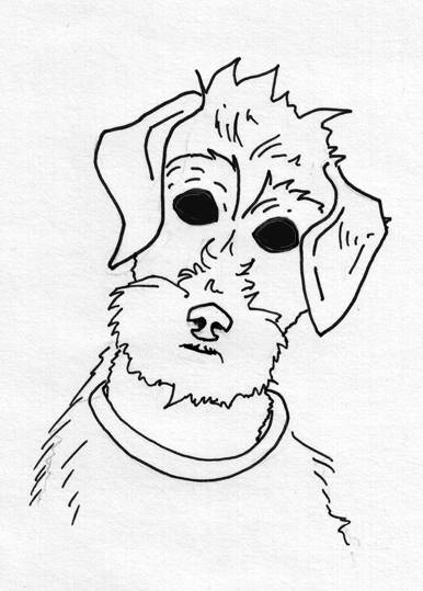 386x539 How To Draw Cartoon Dog Sitting Capseacusiz