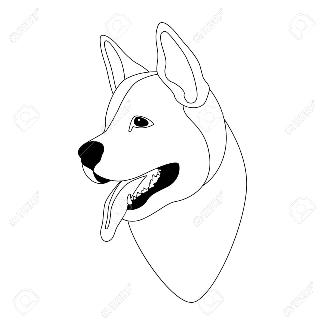 dog face drawing at getdrawings com free for personal use dog face