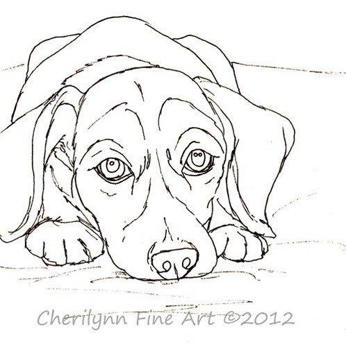 Line Drawing Of A Dog Face : Dog face line drawing at getdrawings free for