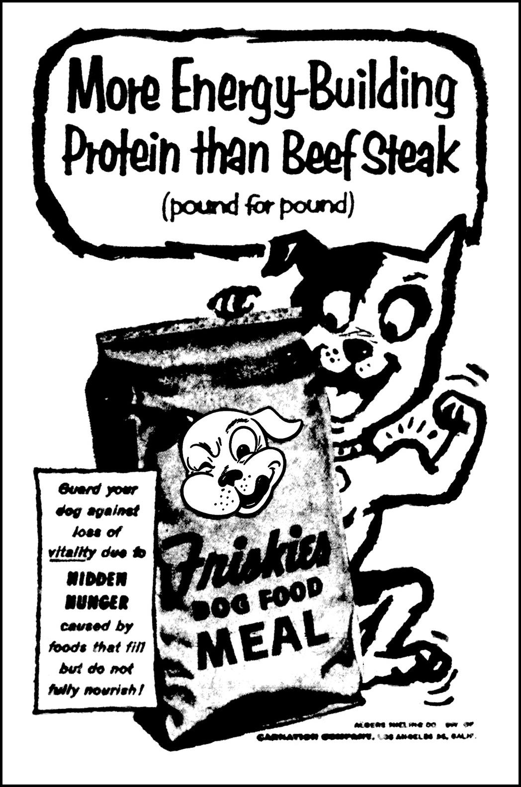 1048x1584 Brady's Lorain County Nostalgia Friskies Dog Food Ad March 3, 1955