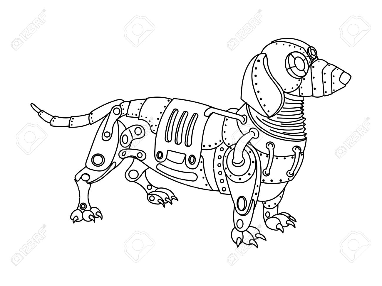 1300x975 Steampunk Dog Drawing Steampunk Drawing Sketches