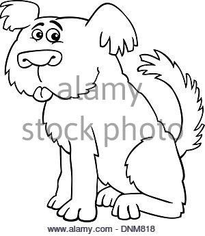 300x345 Cartoon Illustration Of Funny Shaggy Sheepdog Or Bobtail Dog