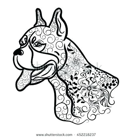 450x470 Boxer Coloring Pages Boxer Coloring Pages Coloring Pages Of Boxer