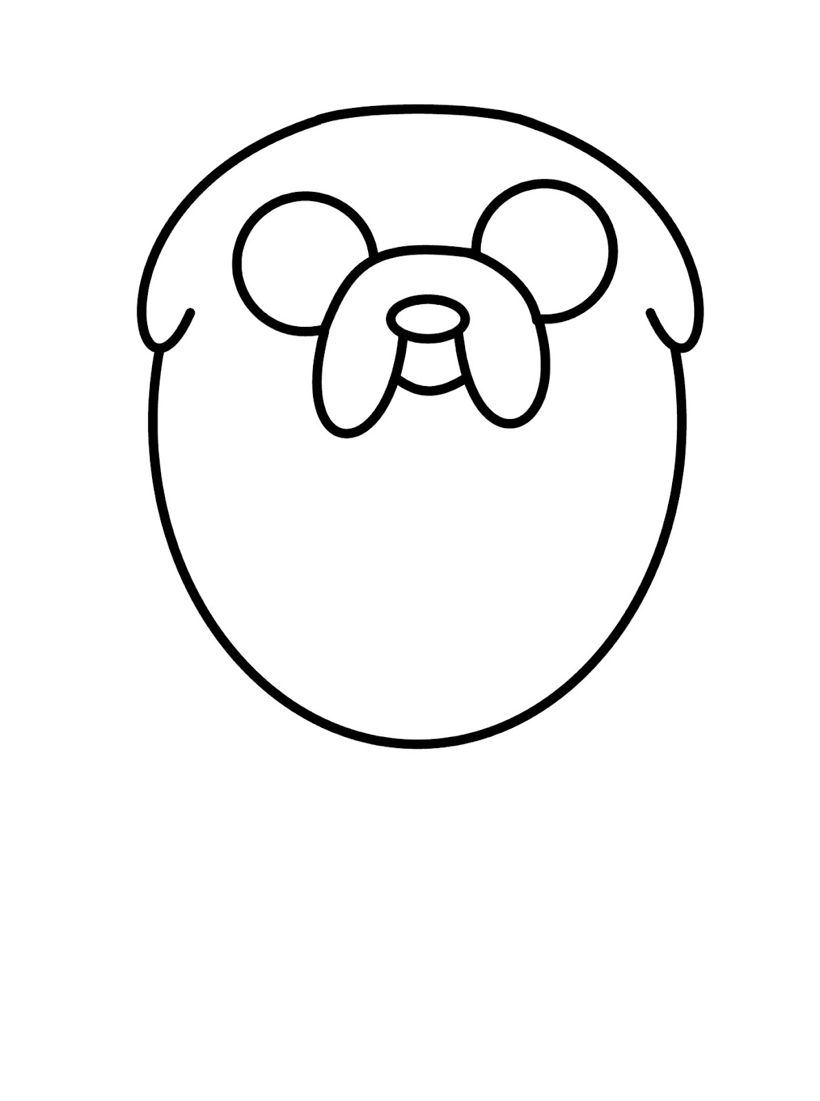 1192x1600 How To Draw Cartoons Jake The Dog