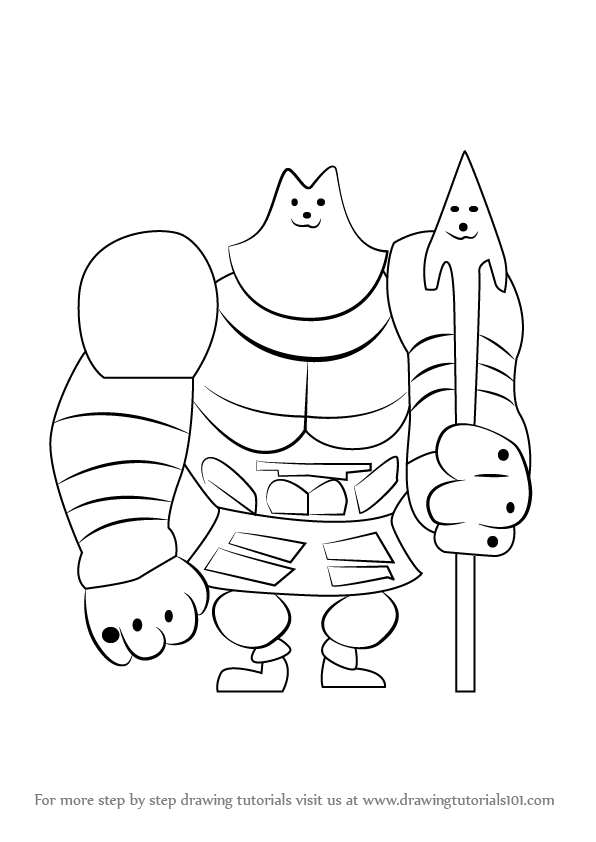 596x842 Learn How To Draw Greater Dog From Undertale (Undertale) Step By