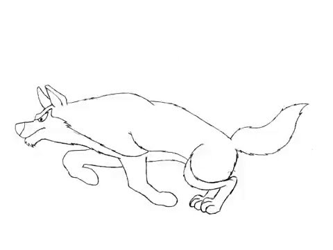 480x360 Dog Run Jump Animation Pencil Test