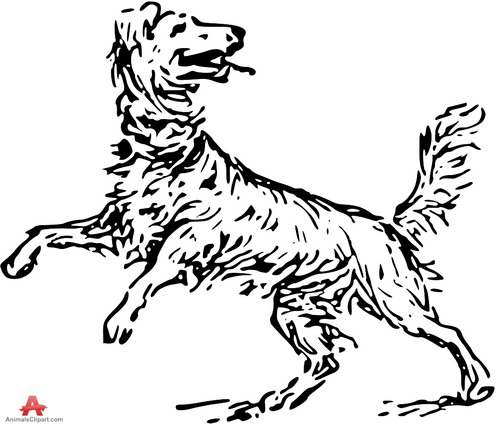 999x855 Happy Jumping Dog Stencil Drawing Free Clipart Design Download