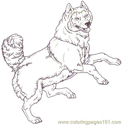 411x421 Mural Tsb Sled Dog Jumping Coloring Page