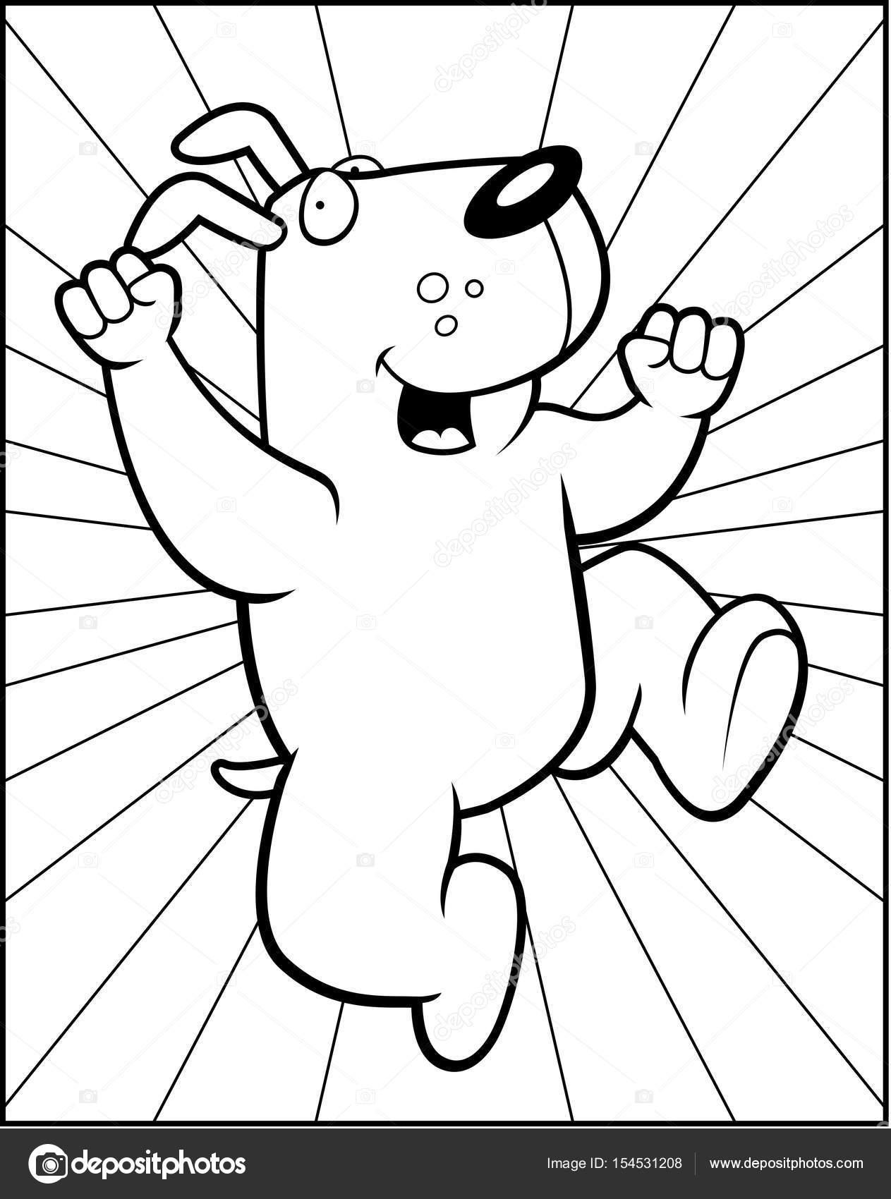 1263x1700 Cartoon Dog Jumping Stock Vector Cthoman
