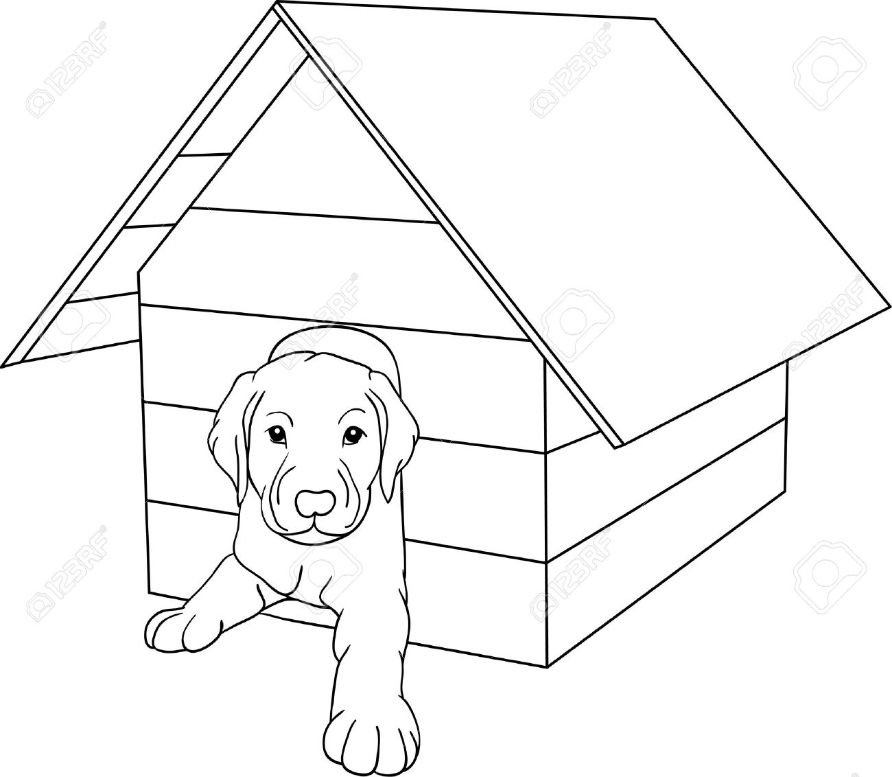 1300x1132 Elegant Along With Lovely Dog House Drawing Pertaining To House