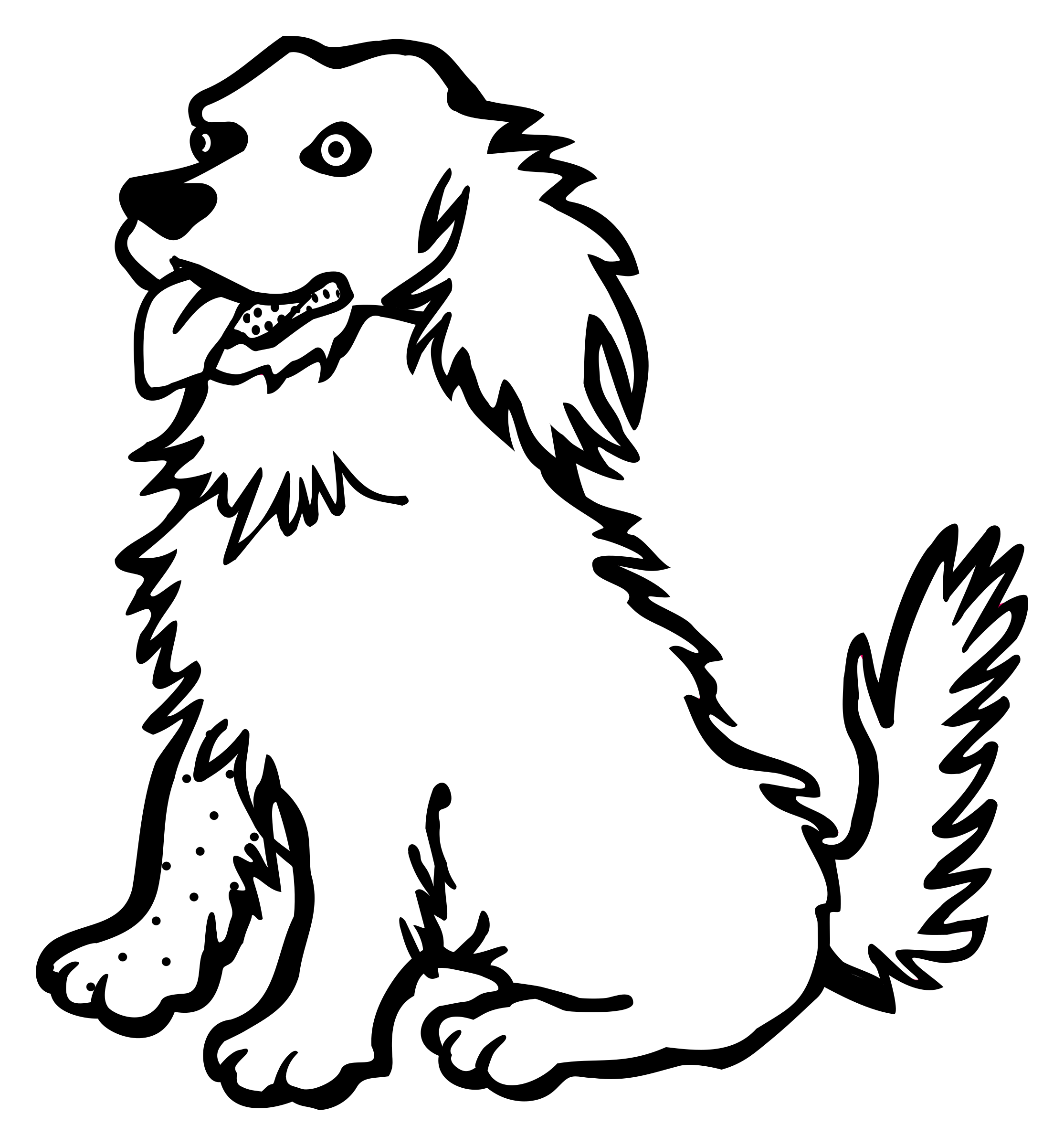 Line Drawing Of A Dog : Dog line drawing at getdrawings free for personal