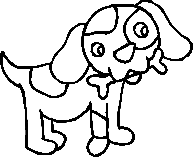 Dog Outline Drawing