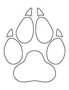 236x305 Dog Paw Outline Group