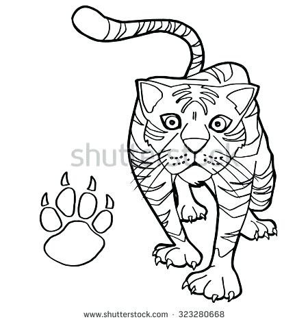 450x470 Paw Print Coloring Page Paw Print Coloring Pages Dog Paw Print