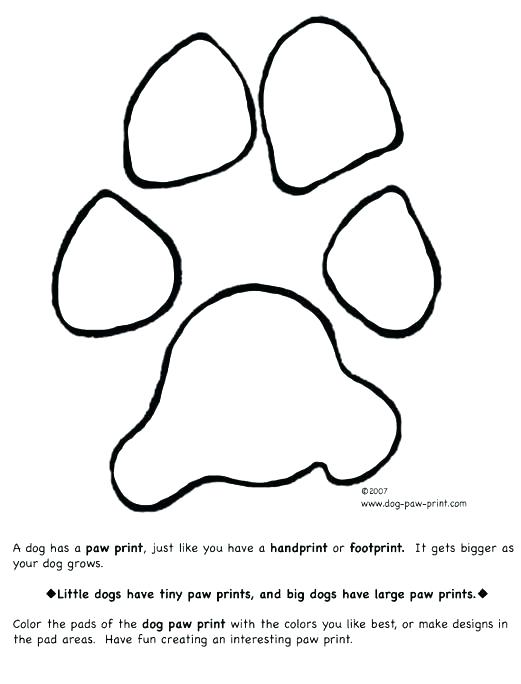 521x684 Paw Print Coloring Page Print And Color Pages For Paw Print