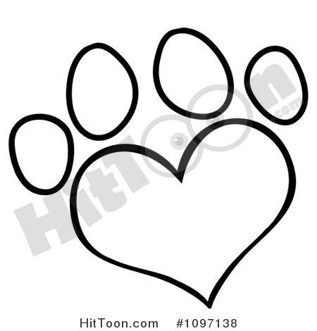 Dog Paw Print Drawing At GetDrawings
