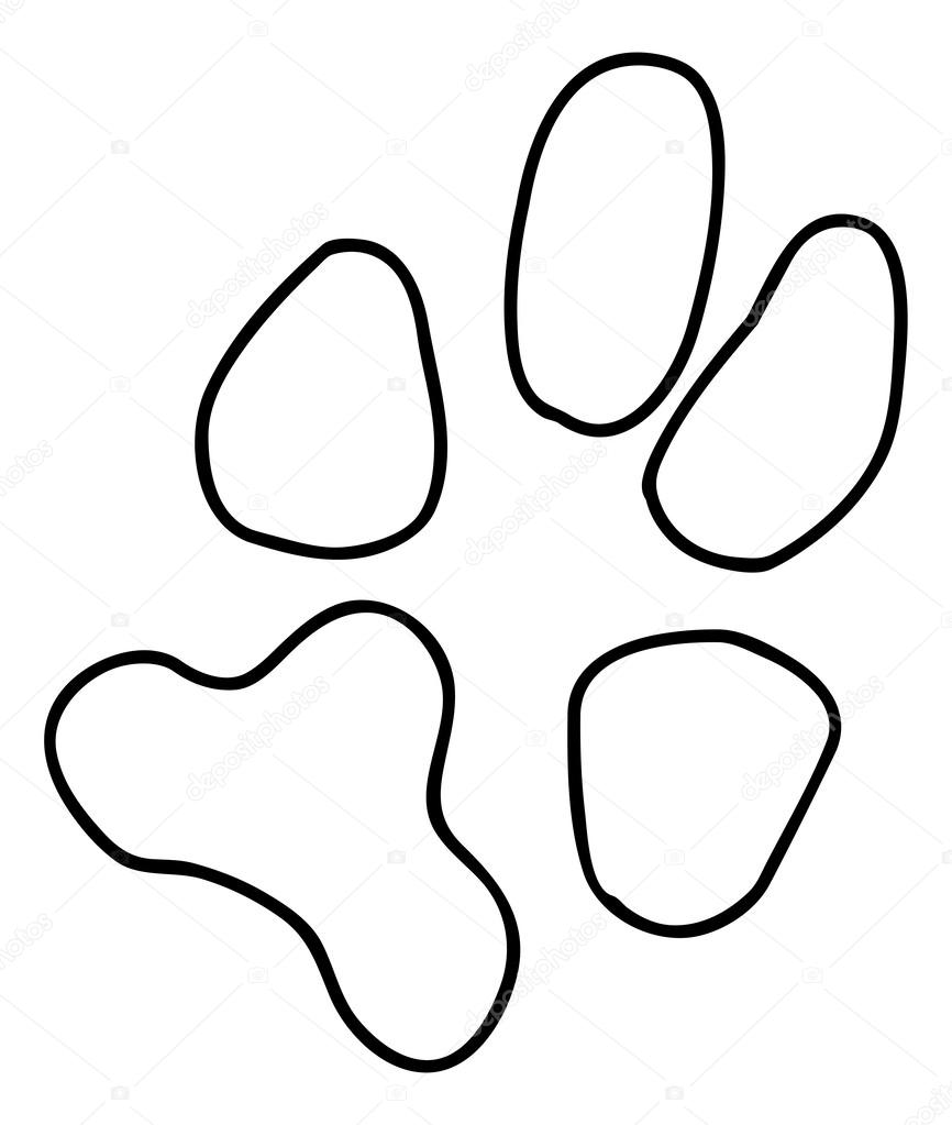 866x1023 Black Dog Or Cat Paw Print Stock Vector Willeecole