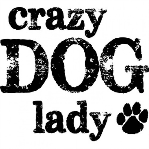 498x498 Crazy Dog Lady With Paw Print Tee Shirt Dog Rescue Pa