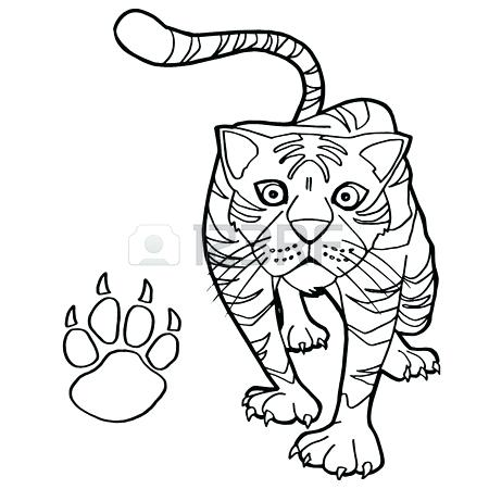 450x450 Paw Print Coloring Page Vector Of A Cartoon Lost Dog Staring