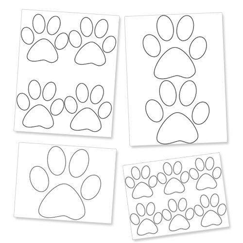 500x500 Printable Paw Template Dog Paw Prints Printable