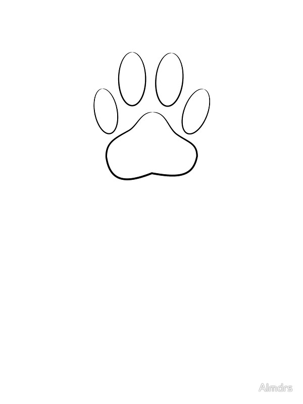 600x800 White Dog Paw Print Stickers By Almdrs Redbubble