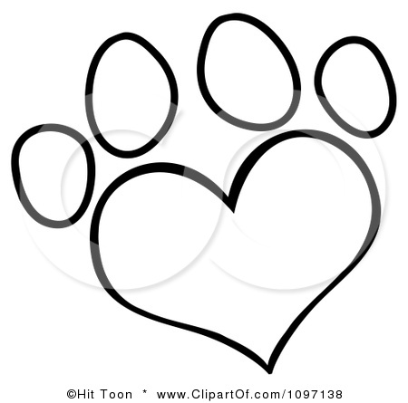 Dog Paw Prints Drawing at GetDrawings com | Free for