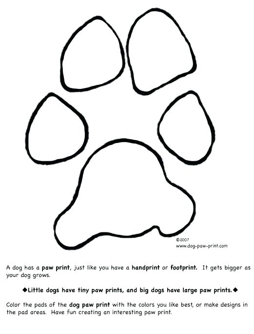 Dog Paw Prints Drawing At Getdrawings Com
