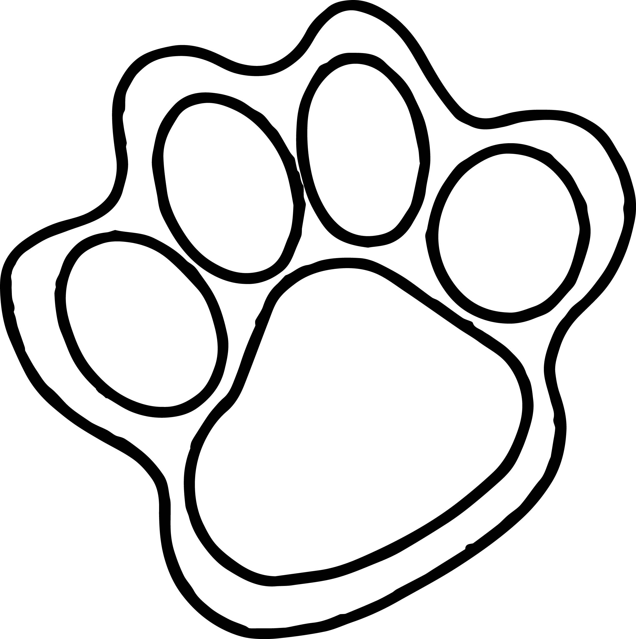 Dog Paws Drawing at GetDrawings.com | Free for personal use Dog Paws ...